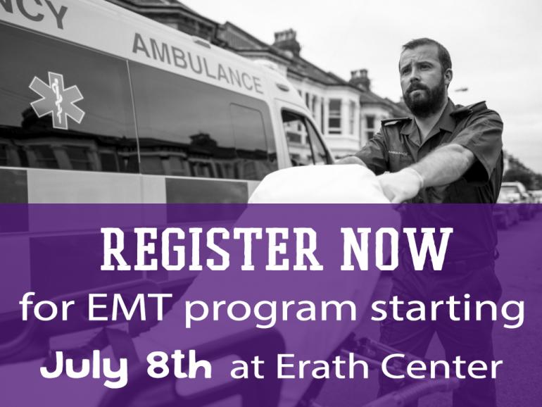 EMT Program Registration at Erath Center in Ranger College
