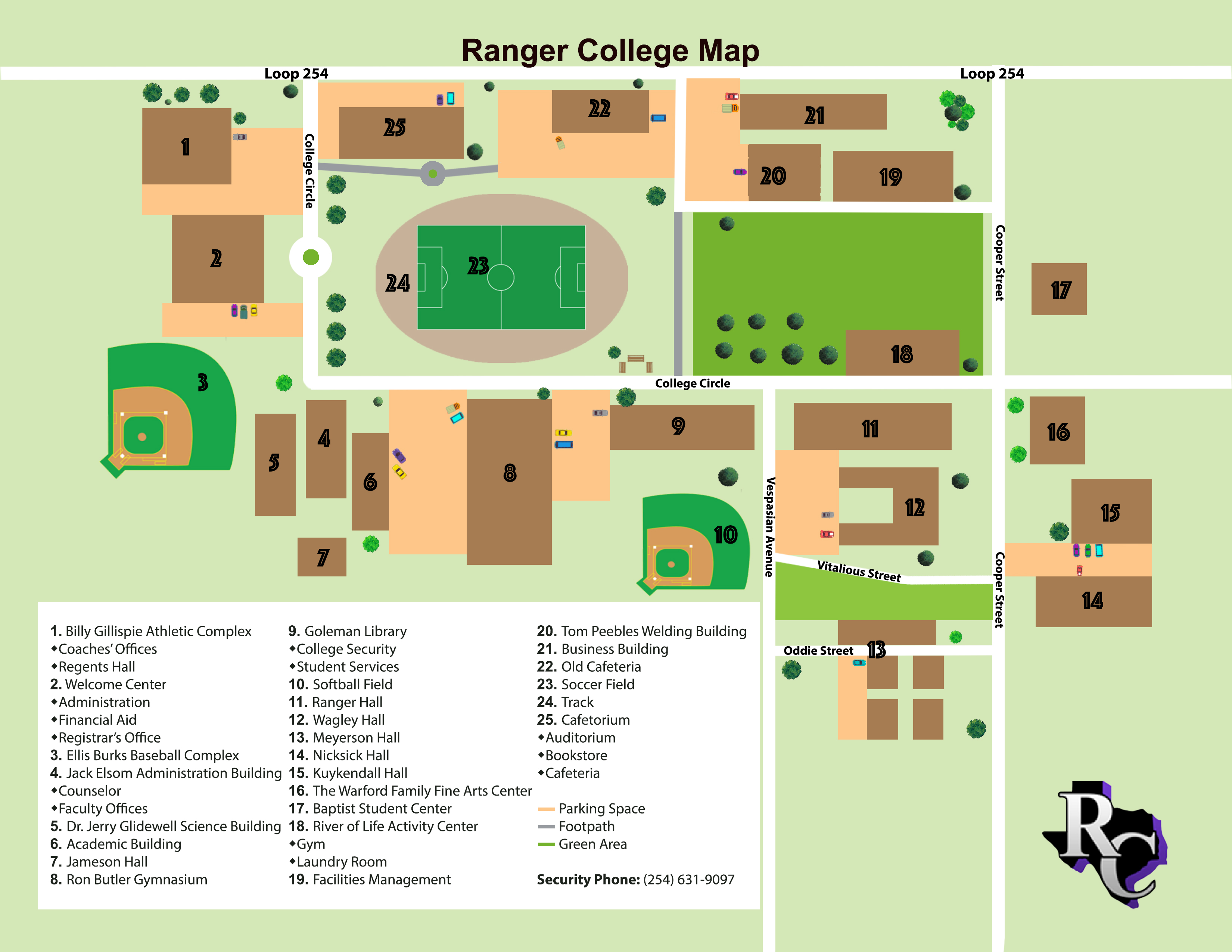 Map Of Texas Junior Colleges.Ranger College